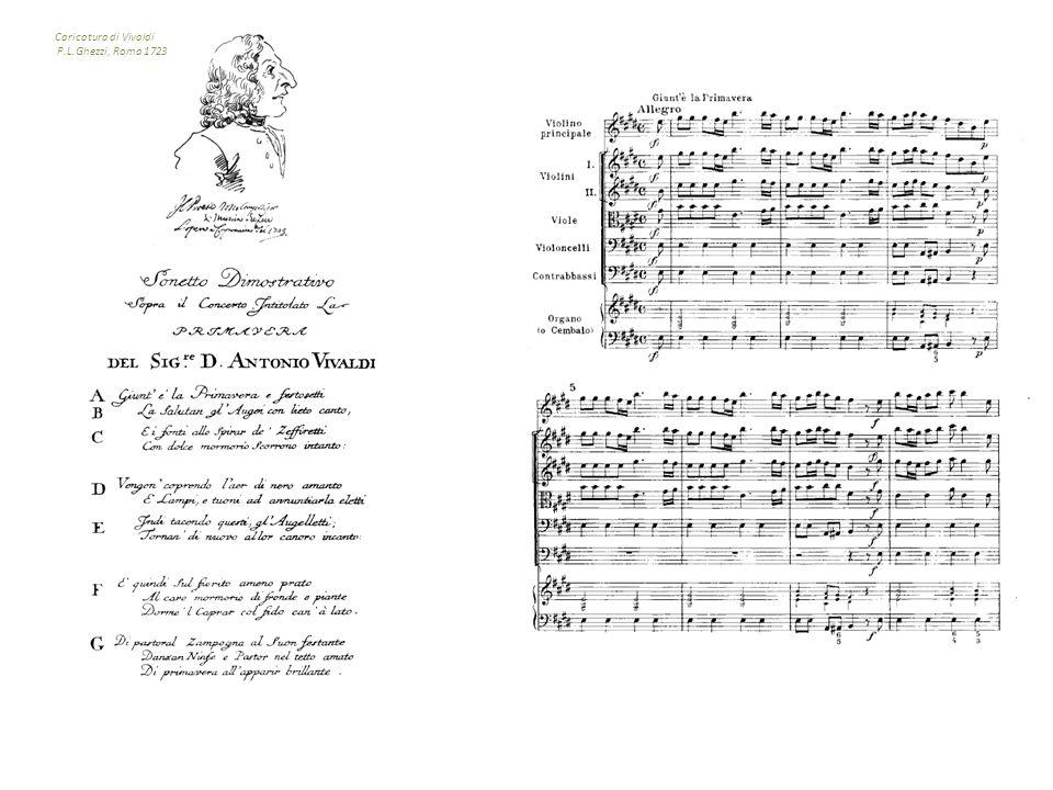 Caricatura di Vivaldi P.L.Ghezzi, Roma 1723