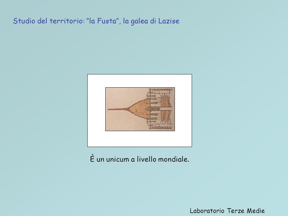 Laboratorio Terze Medie Studio del territorio: la Fusta, la galea di Lazise È un unicum a livello mondiale.