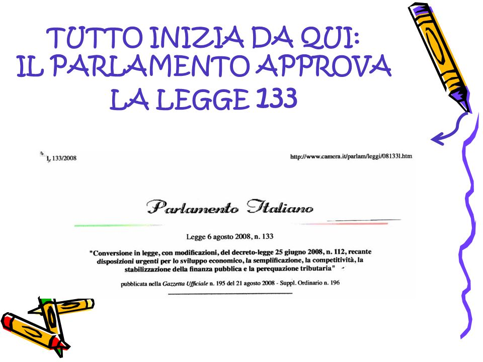ART.64 DISPOSIZIONI IN MATERIA DI ORGANIZZAZIONE SCOLASTICA Comma 1.