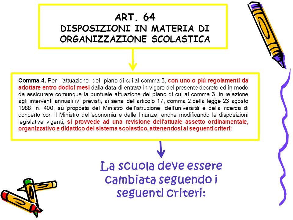 Comma 4. Per l'attuazione del piano di cui al comma 3, con uno o più regolamenti da adottare entro dodici mesi dalla data di entrata in vigore del pre