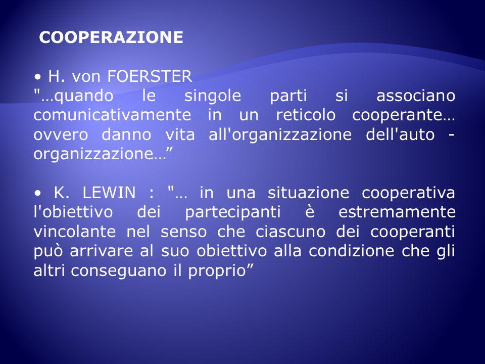 COOPERAZIONE H. von FOERSTER
