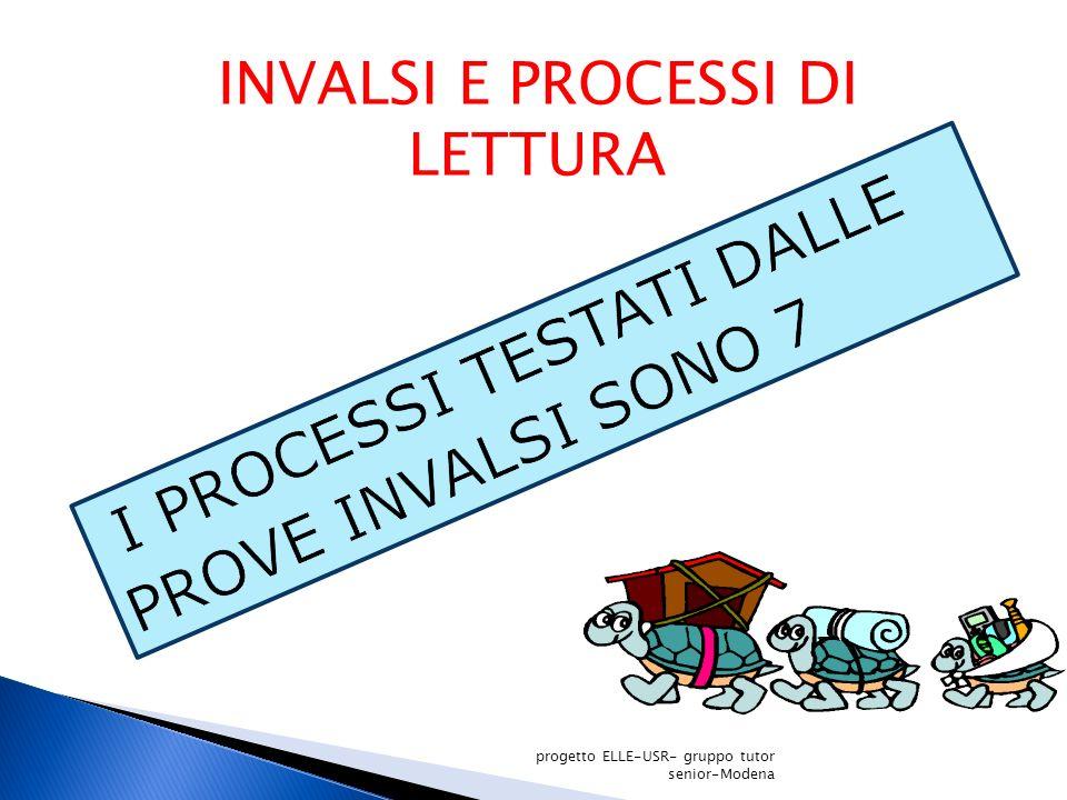 INVALSI E PROCESSI DI LETTURA progetto ELLE-USR- gruppo tutor senior-Modena