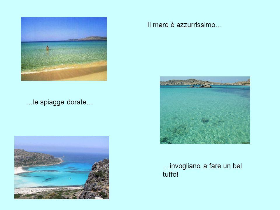Il mare è azzurrissimo… …le spiagge dorate… …invogliano a fare un bel tuffo!