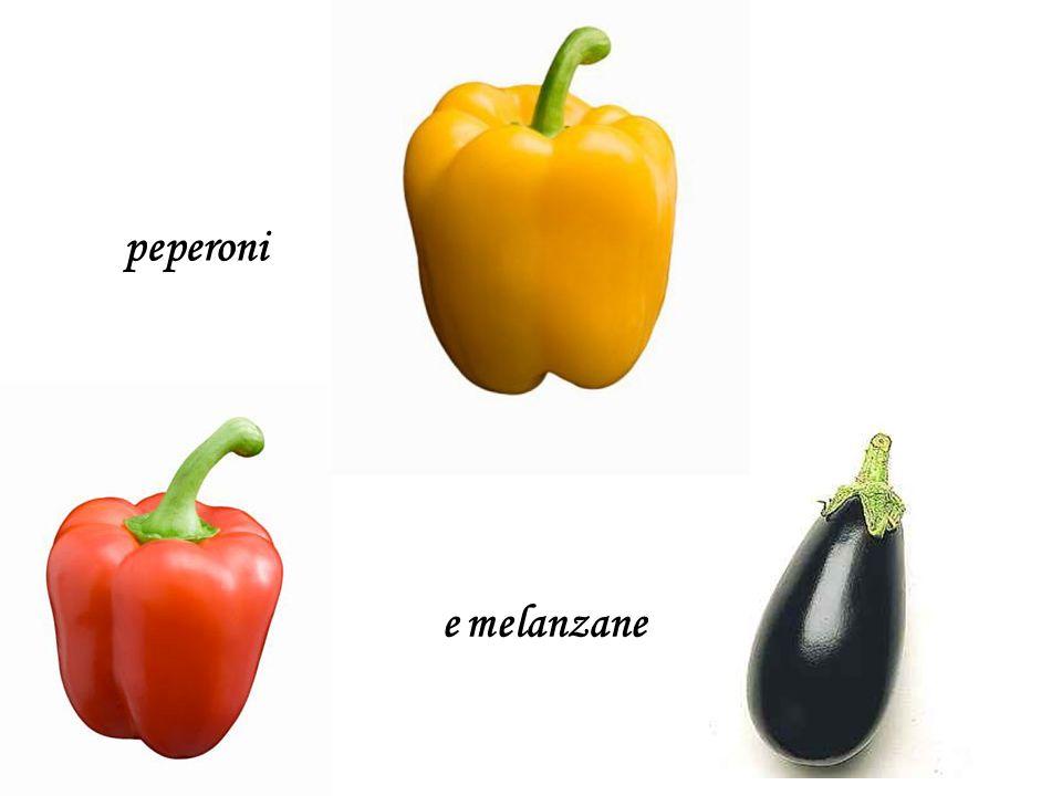 e melanzane peperoni