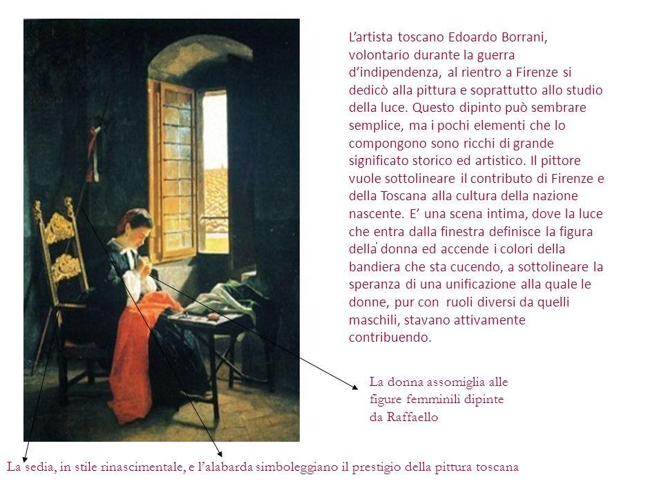 . Lartista toscano Edoardo Borrani, volontario durante la guerra dindipendenza, al rientro a Firenze si dedicò alla pittura e soprattutto allo studio