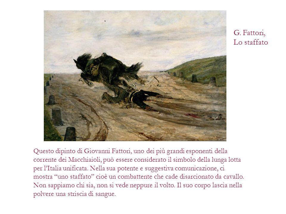 Questo dipinto di Giovanni Fattori, uno dei più grandi esponenti della corrente dei Macchiaioli, può essere considerato il simbolo della lunga lotta p