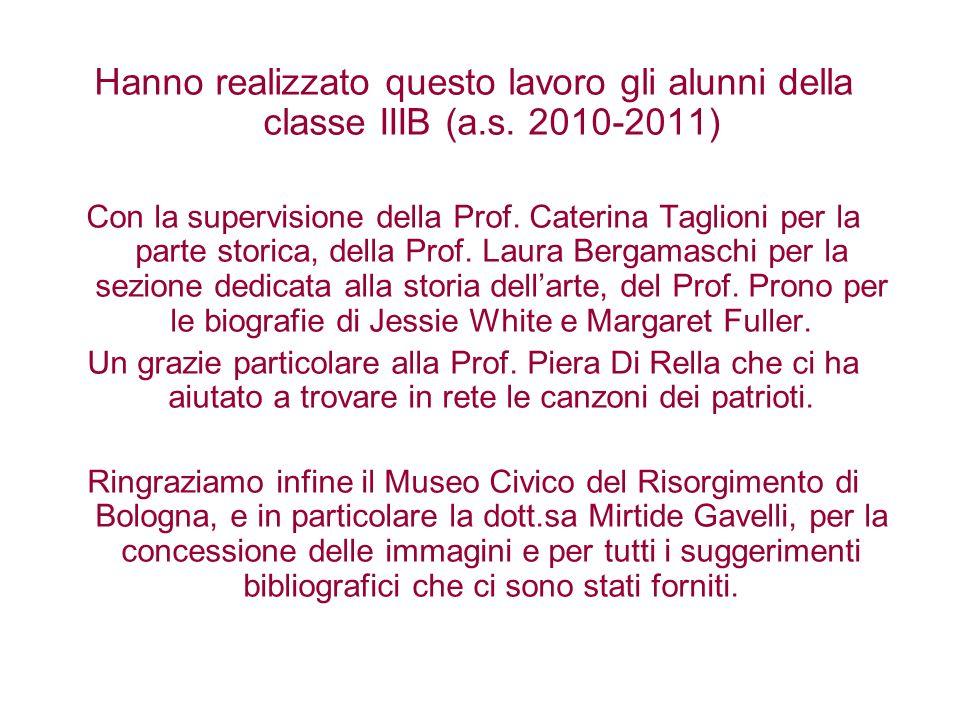 Hanno realizzato questo lavoro gli alunni della classe IIIB (a.s. 2010-2011) Con la supervisione della Prof. Caterina Taglioni per la parte storica, d