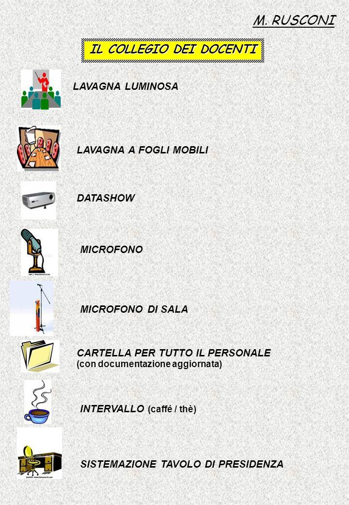 IL COLLEGIO DEI DOCENTI 1.PRESENTAZIONE O.d.G.(5/10 gg.