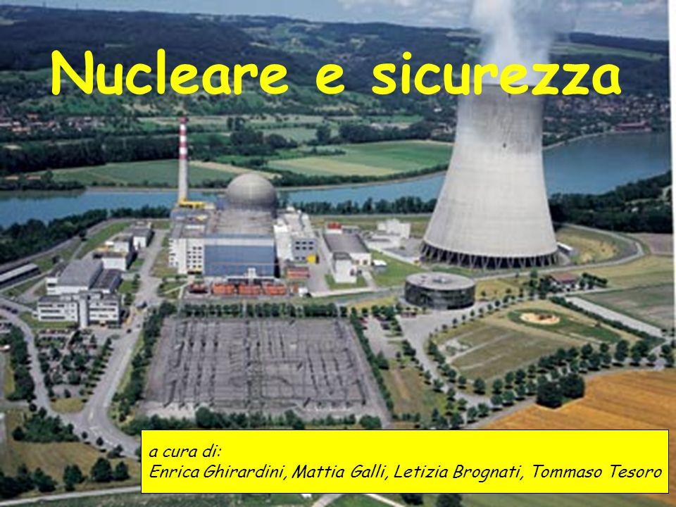 Nucleare e sicurezza a cura di: Enrica Ghirardini, Mattia Galli, Letizia Brognati, Tommaso Tesoro
