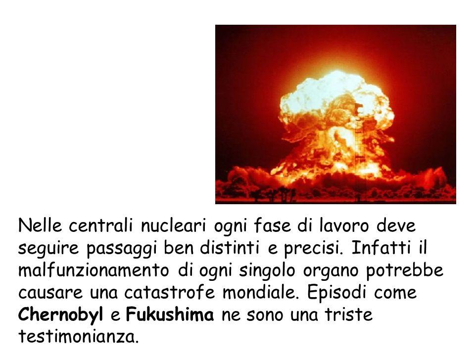 Nelle centrali nucleari ogni fase di lavoro deve seguire passaggi ben distinti e precisi. Infatti il malfunzionamento di ogni singolo organo potrebbe