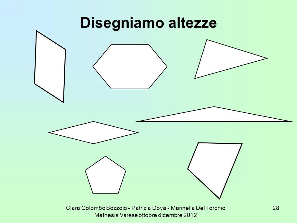 Clara Colombo Bozzolo - Patrizia Dova - Marinella Del Torchio Mathesis Varese ottobre dicembre 2012 28 Disegniamo altezze