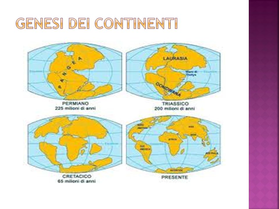 I continenti della Terra non hanno una forma ed una posizione immutabile.