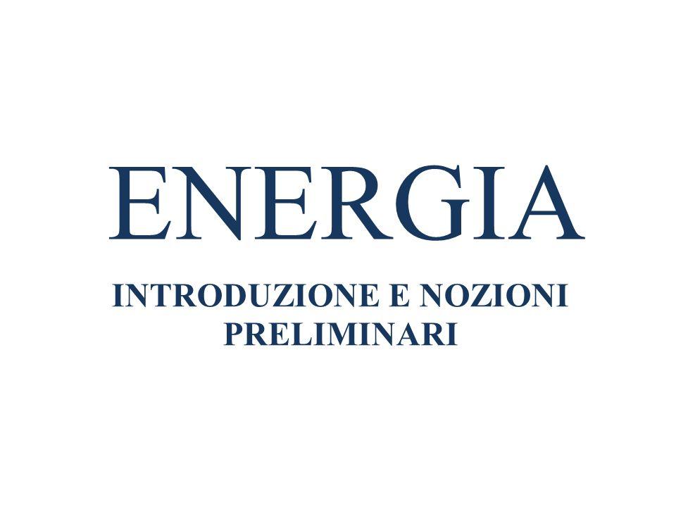 ENERGIA INTRODUZIONE E NOZIONI PRELIMINARI