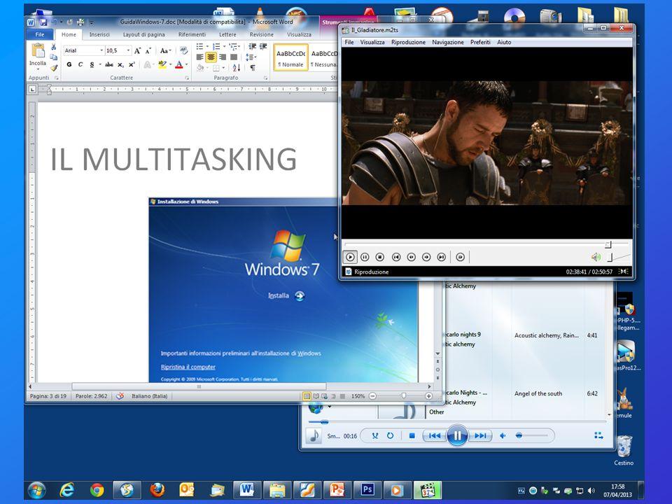 Nomi di files: lestensione Con il termine estensione di file si indica un insieme di caratteri che consente a Windows di stabilire il tipo di informazioni presente in un file e il programma da utilizzare per aprirlo.