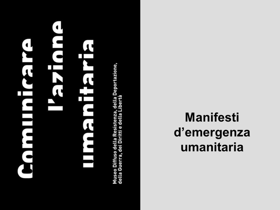 Manifesti demergenza umanitaria