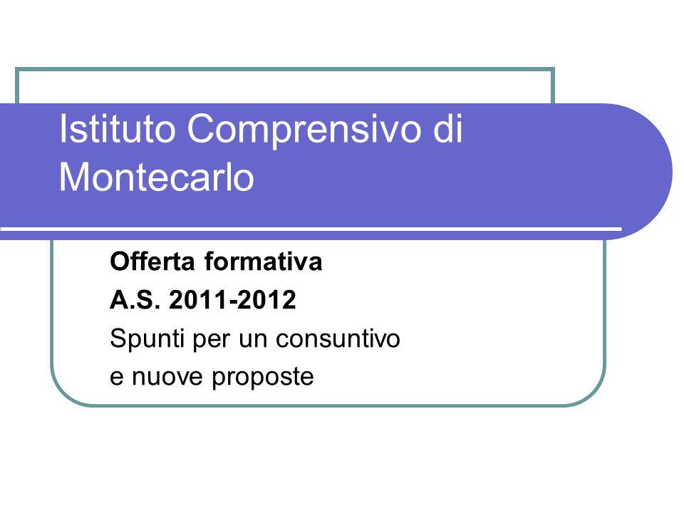 Istituto Comprensivo di Montecarlo Offerta formativa A.S.