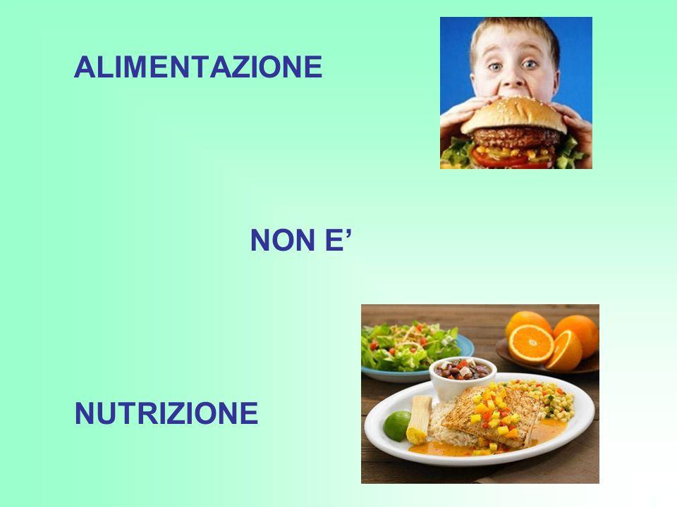 ALIMENTAZIONE NON E NUTRIZIONE