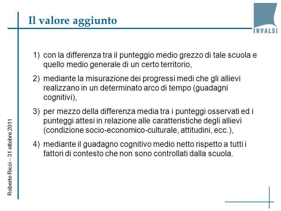 Il valore aggiunto Roberto Ricci – 31 ottobre 2011