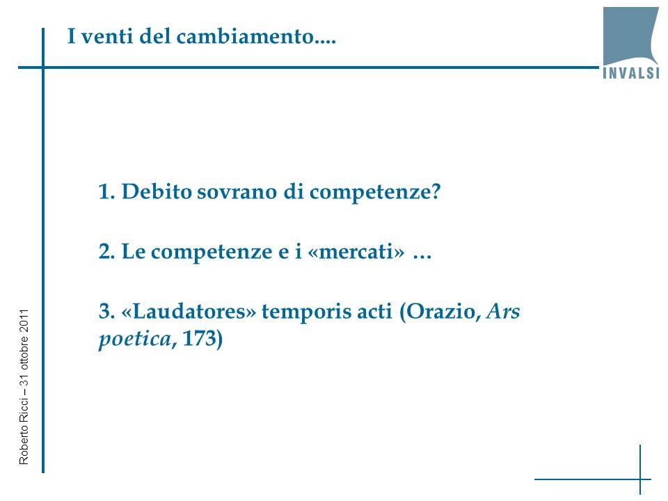 Un esperimento di valore aggiunto (1) Roberto Ricci – 31 ottobre 2011