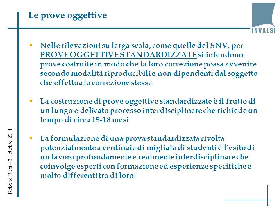 I dati di scuola (7) Roberto Ricci – 31 ottobre 2011