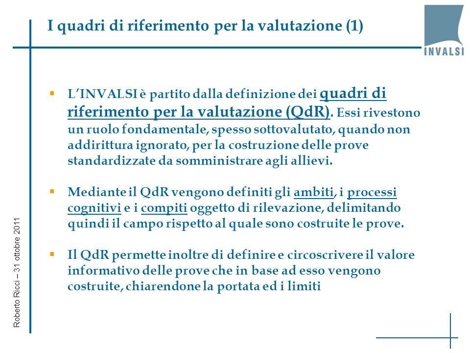 I dati di scuola (8) Roberto Ricci – 31 ottobre 2011