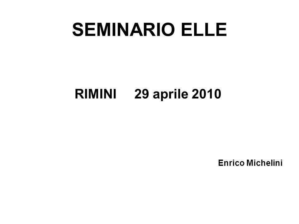 SEMINARIO ELLE RIMINI 29 aprile 2010 Enrico Michelini