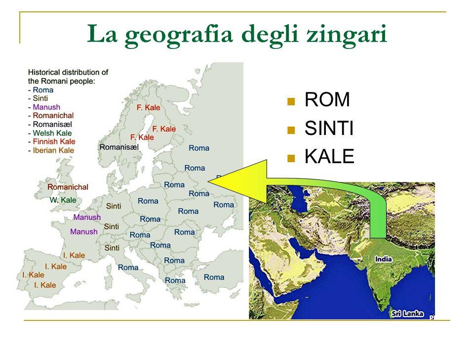 La geografia degli zingari ROM SINTI KALE