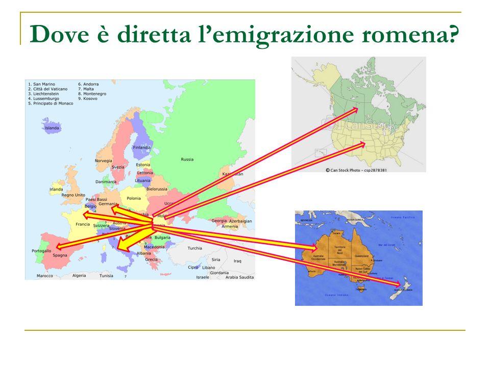 Dove è diretta lemigrazione romena?