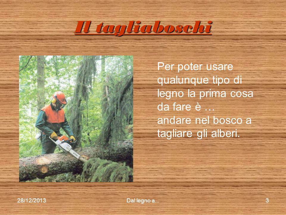 28/12/2013Dal legno a...2 Il taglio della legnaIl taglio della legnaIl taglio della legnaIl taglio della legna Il trasporto della legnaIl trasporto de