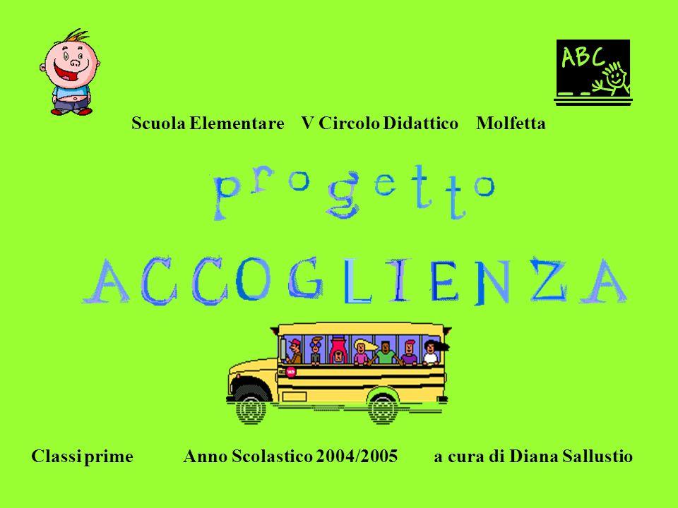 Scuola Elementare V Circolo Didattico Molfetta Classi prime Anno Scolastico 2004/2005 a cura di Diana Sallustio