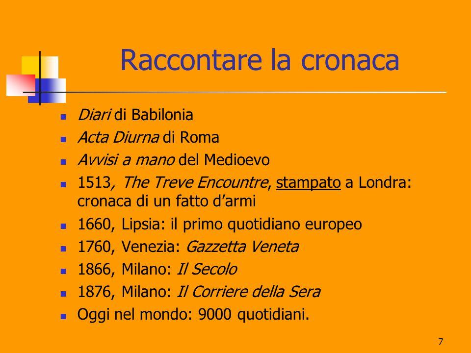 7 Raccontare la cronaca Diari di Babilonia Acta Diurna di Roma Avvisi a mano del Medioevo 1513, The Treve Encountre, stampato a Londra: cronaca di un