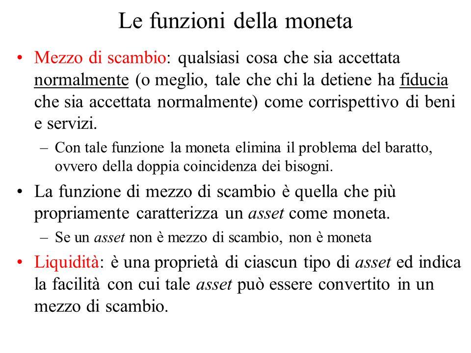 Il ruolo delle banche nel determinare M s Attenzione: la BC non determina M s, ma solo la base monetaria.