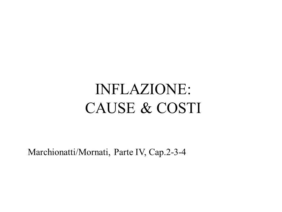 INFLAZIONE: CAUSE & COSTI Marchionatti/Mornati, Parte IV, Cap.2-3-4