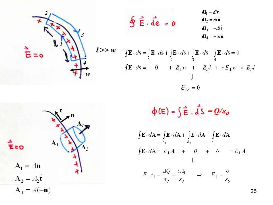 25 w 1 2 3 4 l >> w 0 = Q/ = Q/ A1A1 A2A2 A3A3 n t