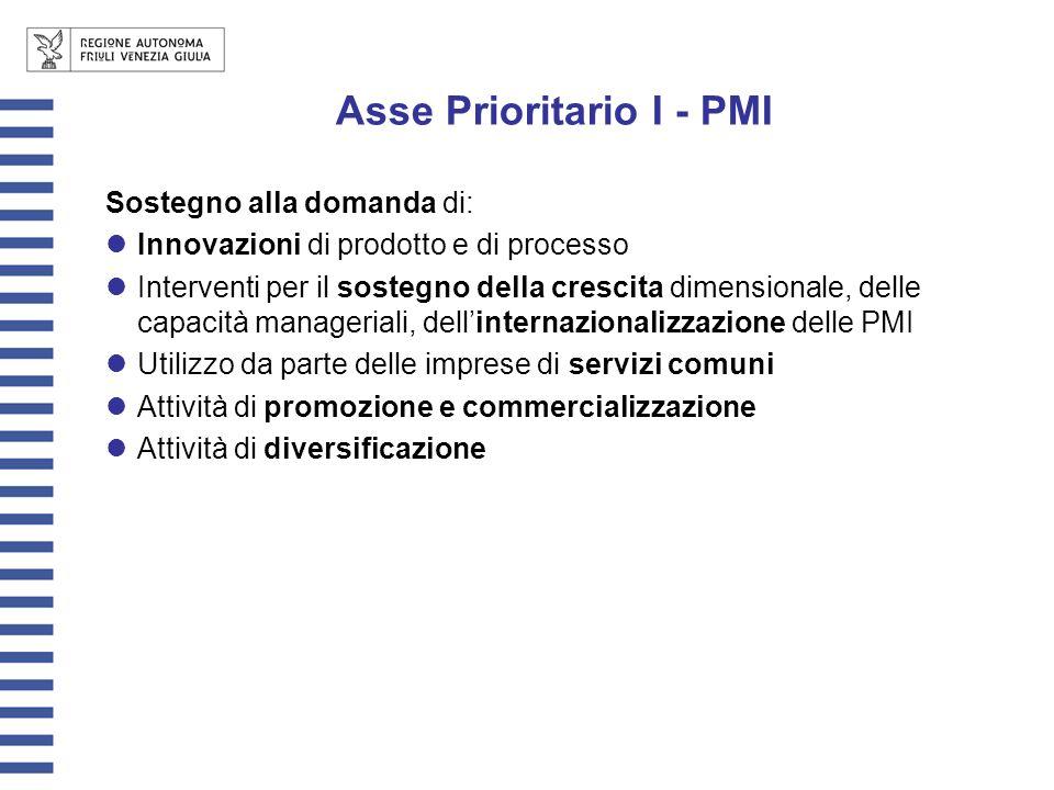 Sostegno alla domanda di: Innovazioni di prodotto e di processo Interventi per il sostegno della crescita dimensionale, delle capacità manageriali, de