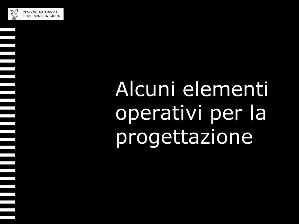 Alcuni elementi operativi per la progettazione