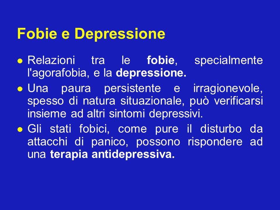 Fobie e Depressione Relazioni tra le fobie, specialmente l'agorafobia, e la depressione. Una paura persistente e irragionevole, spesso di natura situa