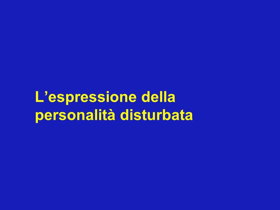Lespressione della personalità disturbata