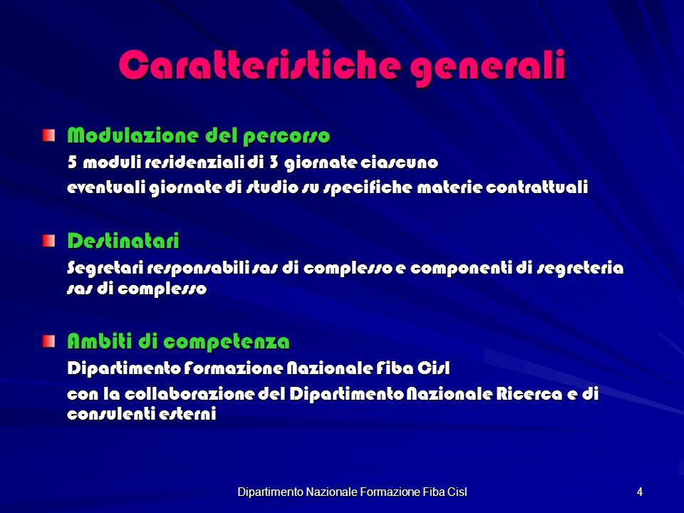 Dipartimento Nazionale Formazione Fiba Cisl 5 Aree didattiche I modulo Il procedimento ex art.