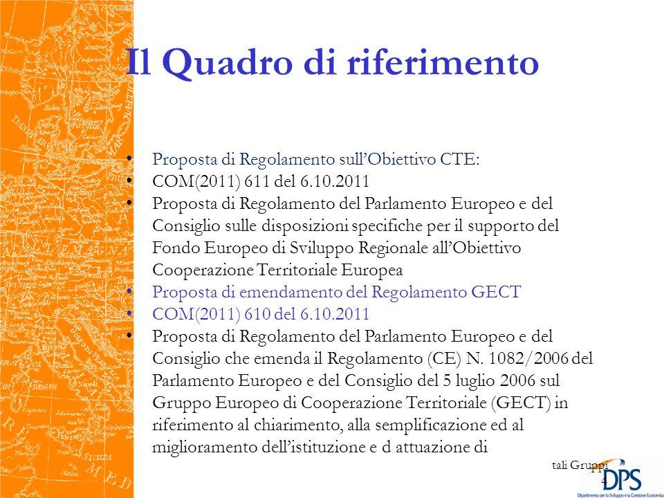Europa 2020 Nel marzo 2010, la Commissione Europea, con lintento di rinnovare la Strategia di Lisbona, ha approvato il documento Europa 2020: una strategia per una crescita intelligente, sostenibile e inclusiva che individua cinque obiettivi principali verso cui far convergere le politiche comunitarie, inclusa la Politica di Coesione: 1.75% dei cittadini dellUE con unetà compresa tra 20 e 64 anni deve avere un lavoro; 2.3% del PIL dellUE deve essere investito in Ricerca/Sviluppo; 3.devono essere raggiunti i traguardi 20/20/20 in materia di clima/energia: riduzione di emissioni di gas ad effetto serra del 20% rispetto ai livelli del 1990, raggiungere il 20% di quota di fonti di energia rinnovabile nel consumo finale e migliorare del 20% lefficienza energetica; 4.tasso di abbandono scolastico inferiore al 10% e almeno il 40% dei giovani dovrà essere laureato; 5.20 milioni in meno di persone dovranno essere a rischio di povertà.