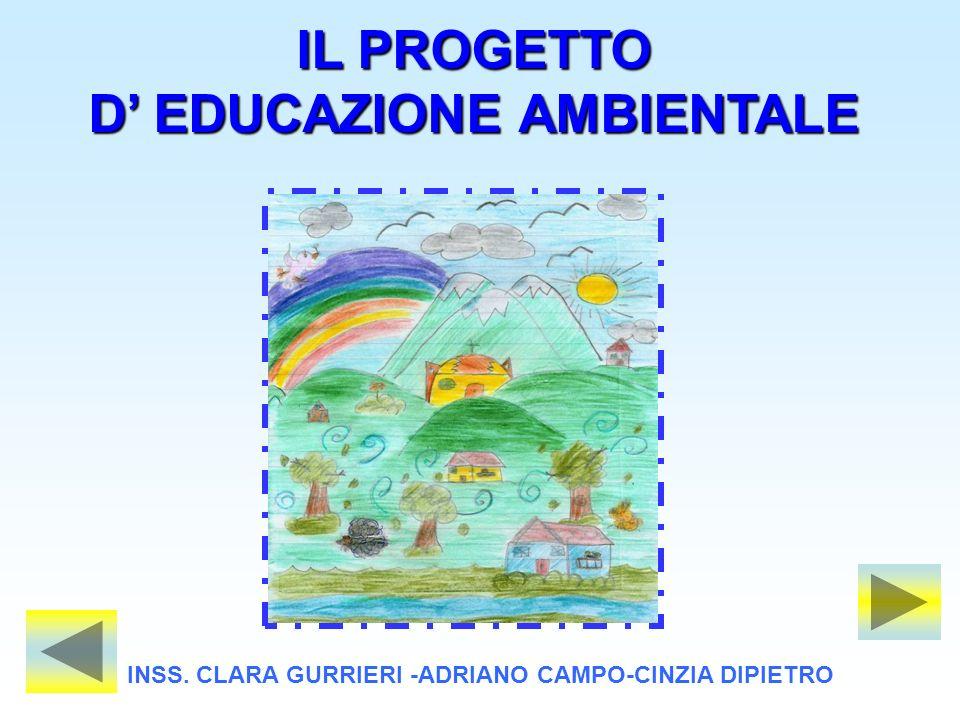 IL PROGETTO D EDUCAZIONE AMBIENTALE INSS. CLARA GURRIERI -ADRIANO CAMPO-CINZIA DIPIETRO