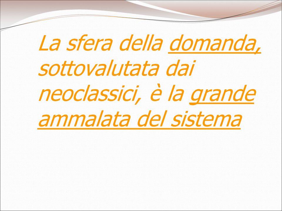 La sfera della domanda, sottovalutata dai neoclassici, è la grande ammalata del sistema