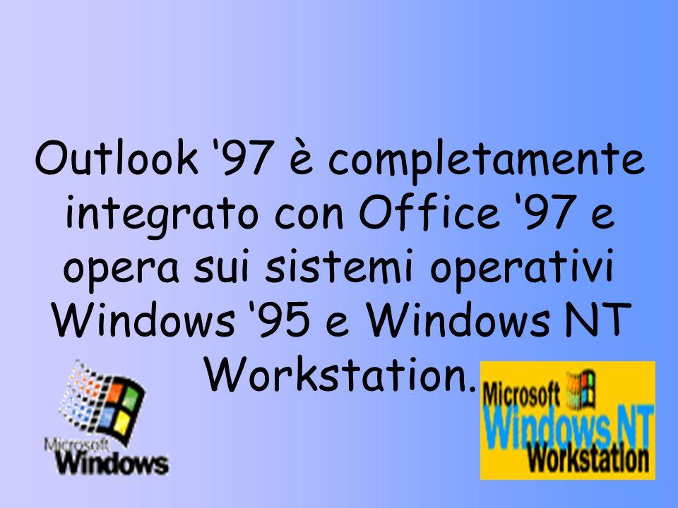 Microsoft Outlook 97 è un programma di gestione ed organizzazione delle informazioni personali, dalla posta elettronica, alla pianificazione delle att