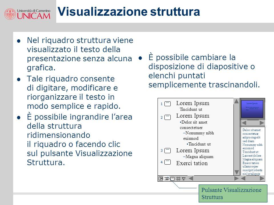 23 Visualizzazione diapositive In questo riquadro viene visualizzato laspetto di ciascuna diapositiva della presentazione. Utilizzare il riquadro diap