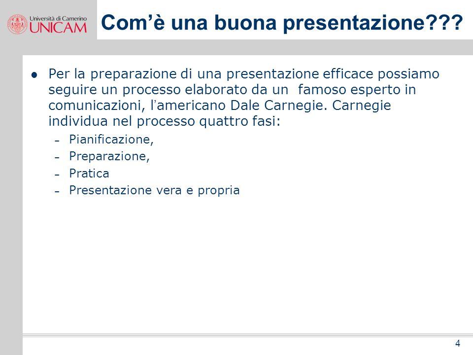 4 Comè una buona presentazione??.