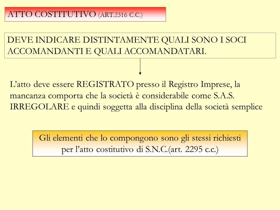 ECONIMICAMENTE la S.A.S. consente di aggregare due diversi soggetti con scopi differenti; uno con fini di gestione imprenditoriale (socio accomandatar