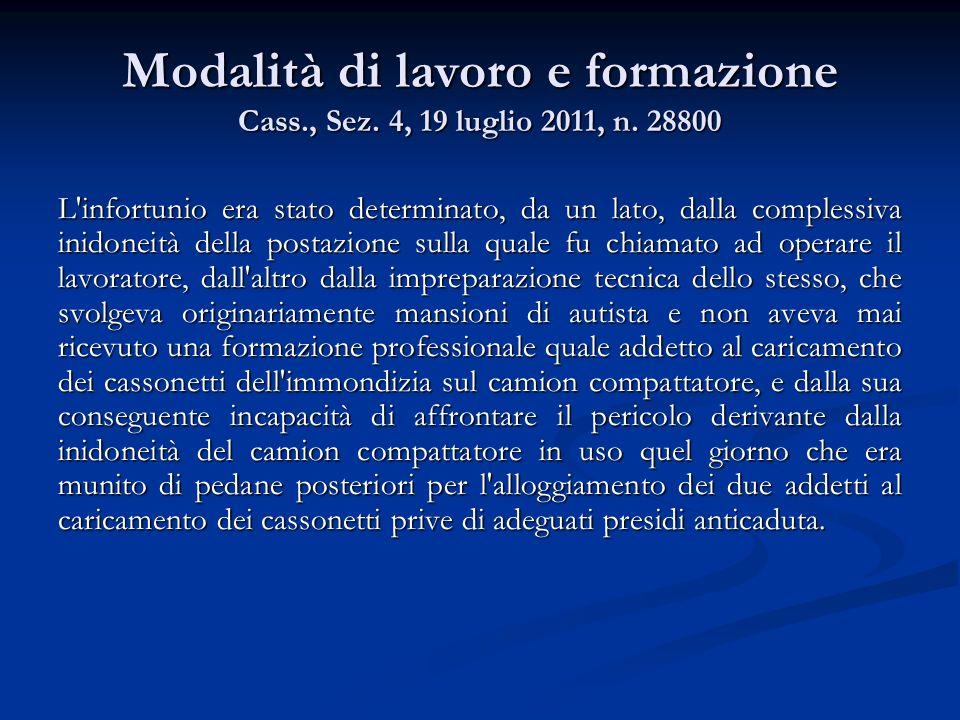 Responsabilità del lavoratore Cass., Sez.3, 23 giugno 2011, n.