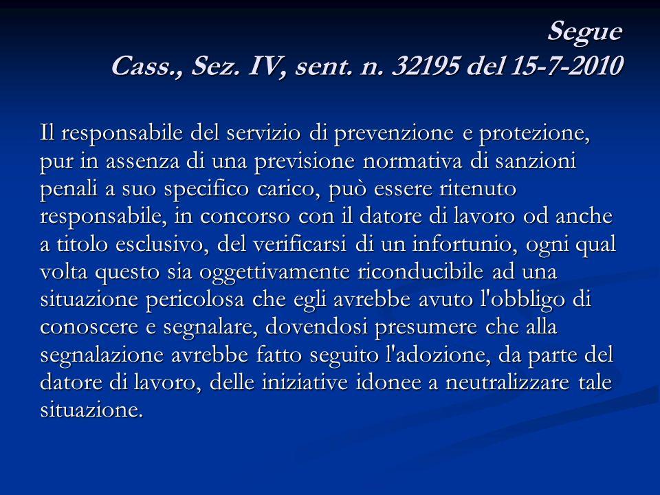segue Sez.IV, sent. n.