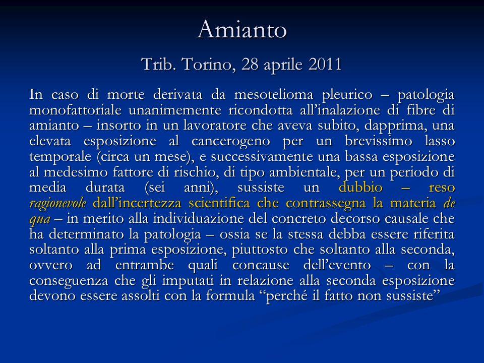 Amianto Cass.pen., sez.