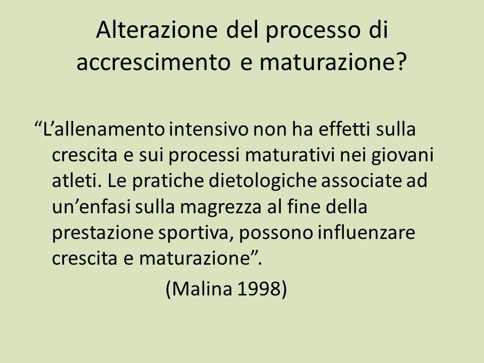Alterazione del processo di accrescimento e maturazione? Lallenamento intensivo non ha effetti sulla crescita e sui processi maturativi nei giovani at